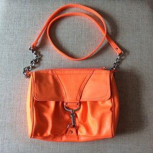 Jessica Simpson Orange Crossbody Clasp Flapover